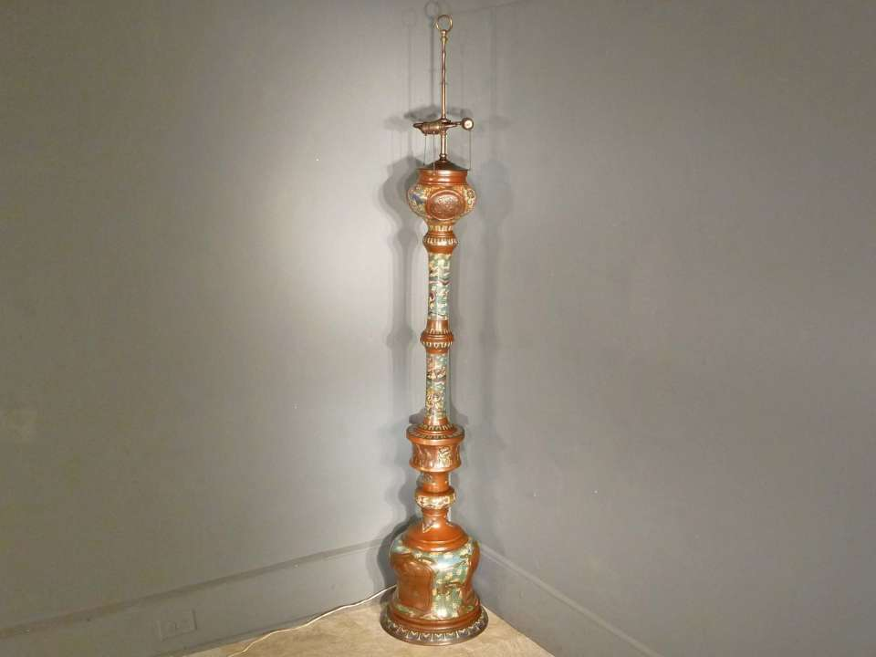 Bronze Champleve Floor Lamp