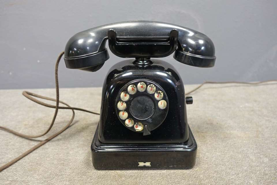 Rotary Dial Telephone with Mute Button