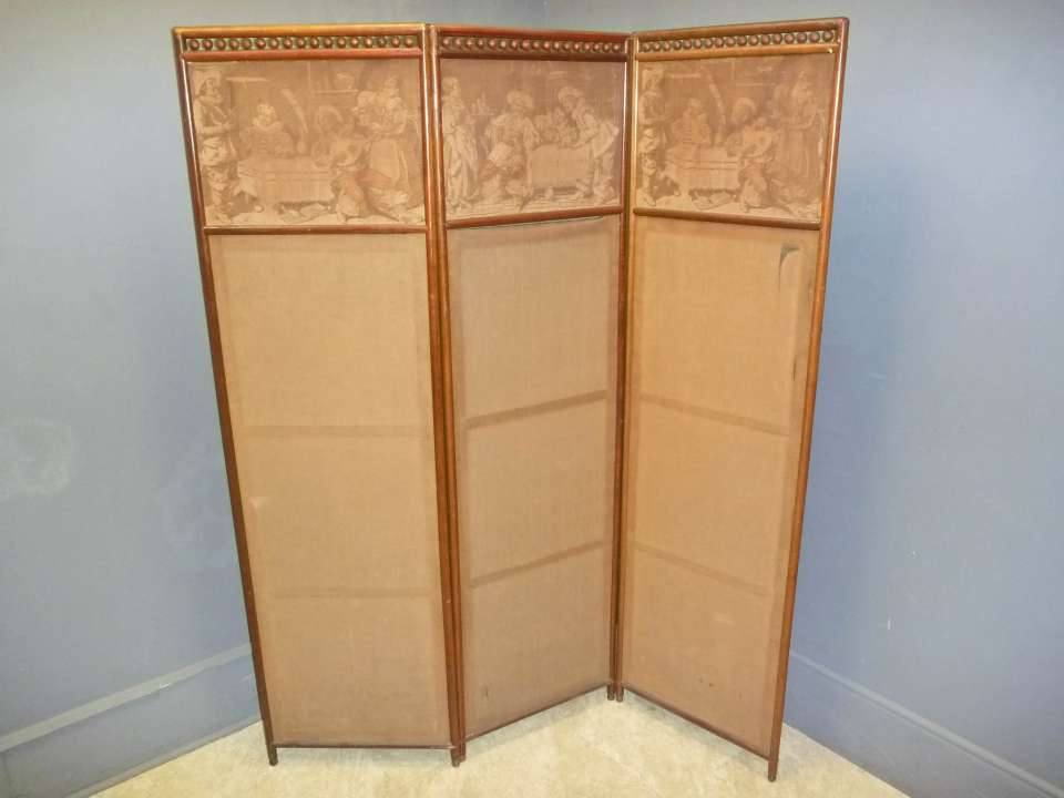 Mahogany Folding Screen