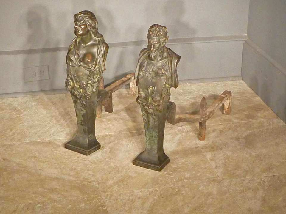 Bronze Mythological Satyr and Maenad