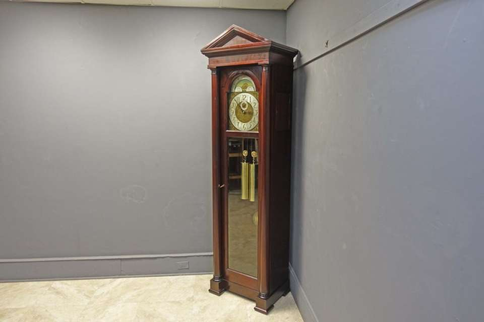 Mahogany Grandfather Hall Clock with Westminster Chimes by Colonial