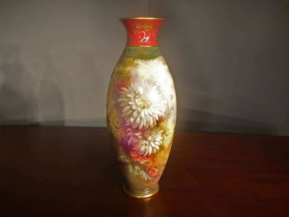 Hand Painted Royal Bonn Vase, Artist Signed